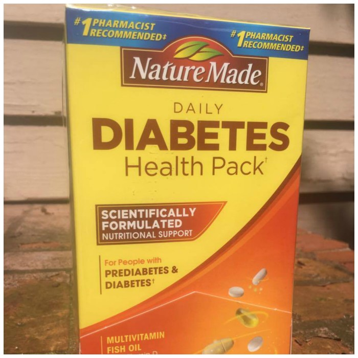 The Nature MadeⓇ Daily Diabetes Health Pack