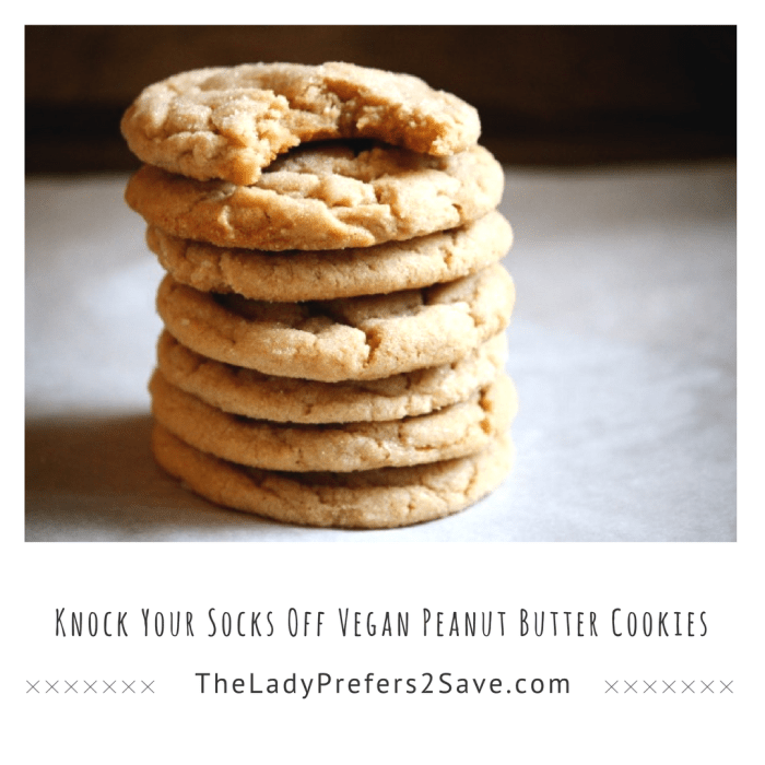 Knock Your Socks Off Vegan Peanut Butter Cookies