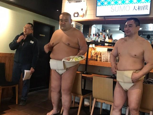 Sumo wrestler restaurant