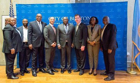 PHOTO NEWS: Ambode meets Mayor of Boston, Massachusetts, U.S.A