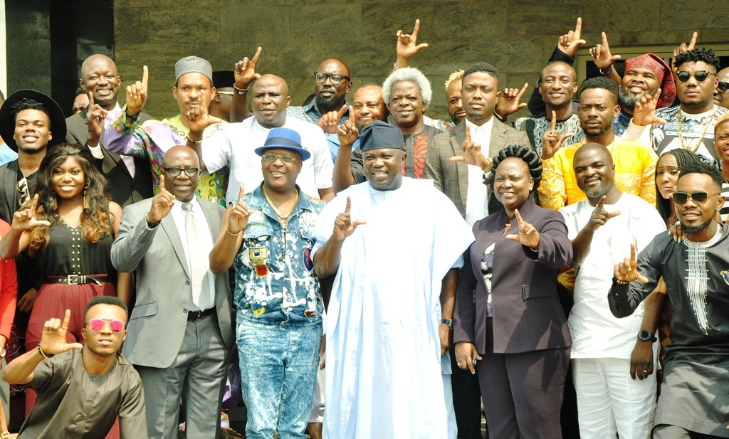 PHOTO NEWS: Ambode meets with Y2016 One Lagos Fiesta artistes