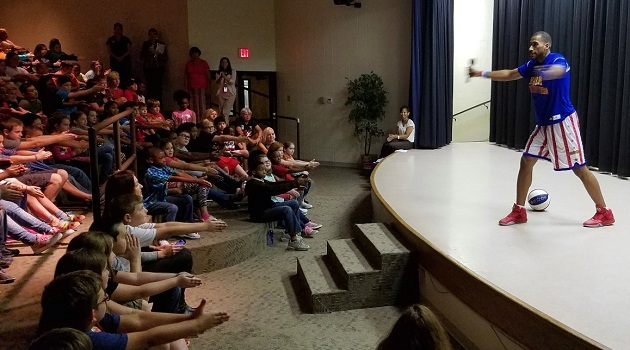 Globetrotter brings bullying prevention students