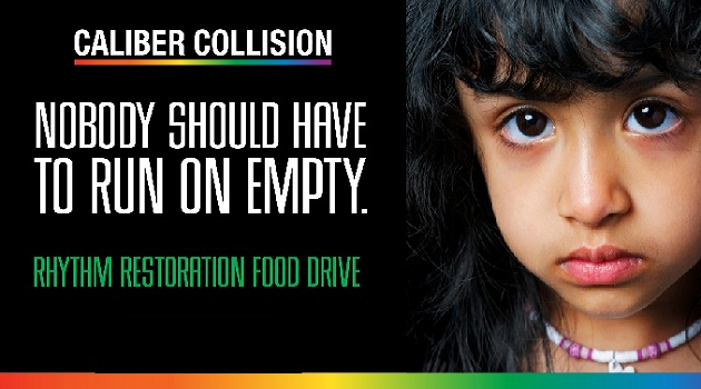 Caliber Collision food drive underway