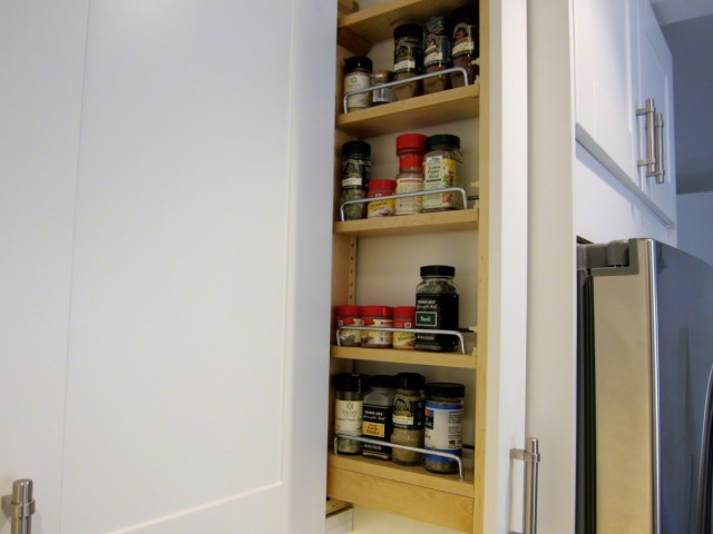 refrigerator enclosure filler strips custom diy spice rack in your ikea kitchen the la lady