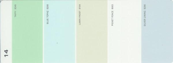 Martha Stewart Paint 5-Color Palette Card #14