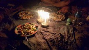 Dinner on Kudle beach