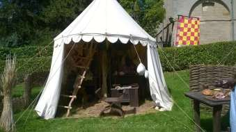 One of the tents in the Horrible Histories vilalge