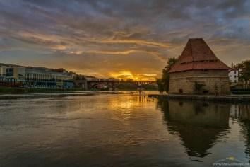 Maribor-Lent, sončni zahod