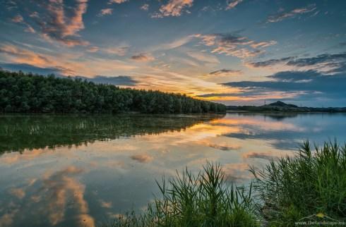 Perniško jezero, sončni zahod
