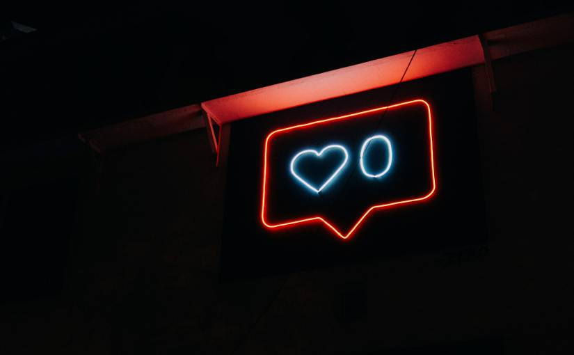 Neon sign zero likes communication