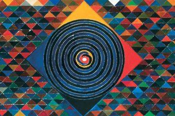 S. H. Raza, Prakṛti Puruṣa (2006), acrylic on canvas, courtesy of The Raza Foundation-Gorbio