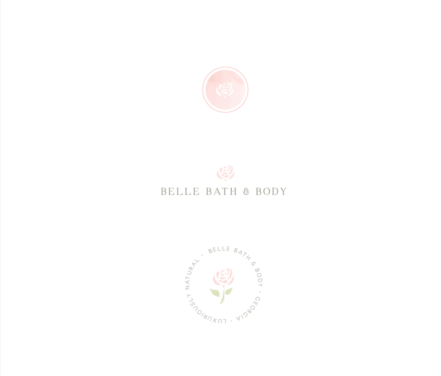 Portfolio | Belle Bath + Body Secondary Logos + Submarks | thelanguidlion.com