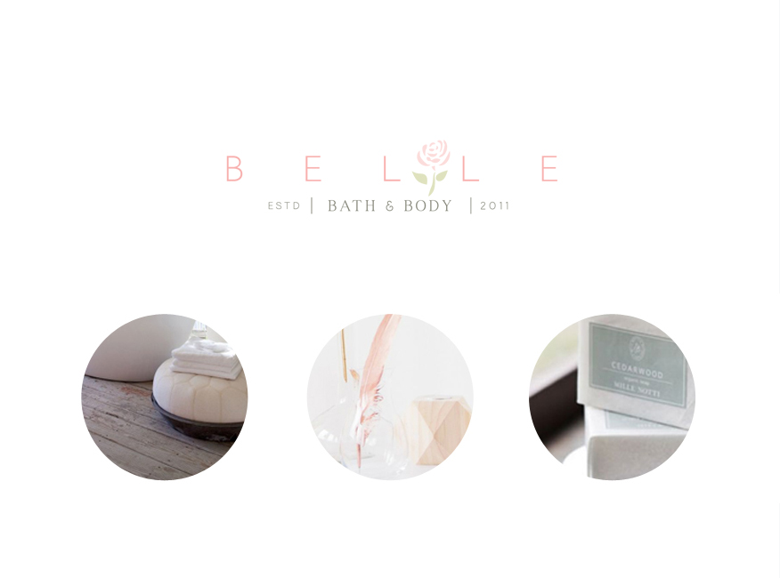 Portfolio | Belle Bath + Body Main Logo | thelanguidlion.com