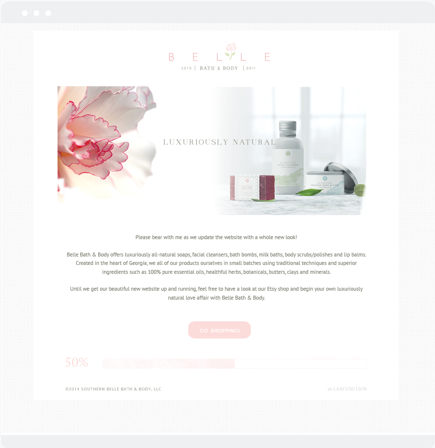 Portfolio | Belle Bath + Body Web Design | thelanguidlion.com