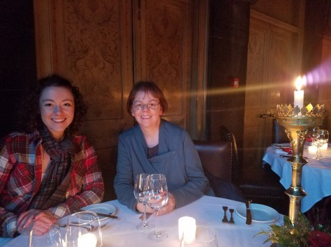 Dinner in a castle only lit by candles? What a meal.