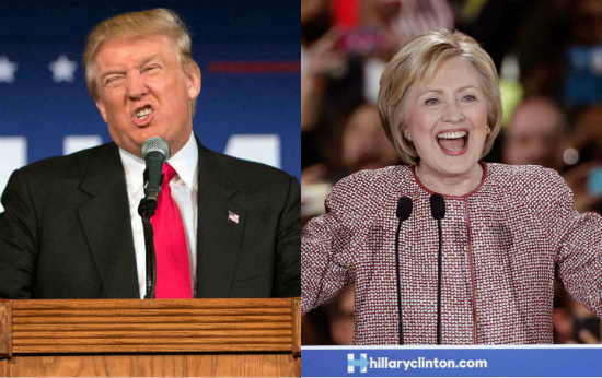 Donald-Hillary-Snarl-Laugh-Sized