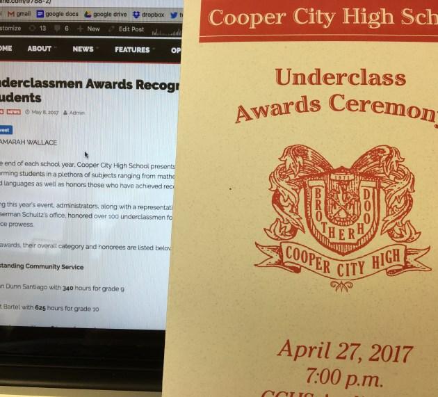 Underclassmen Awards Recognizes Over 100 Students