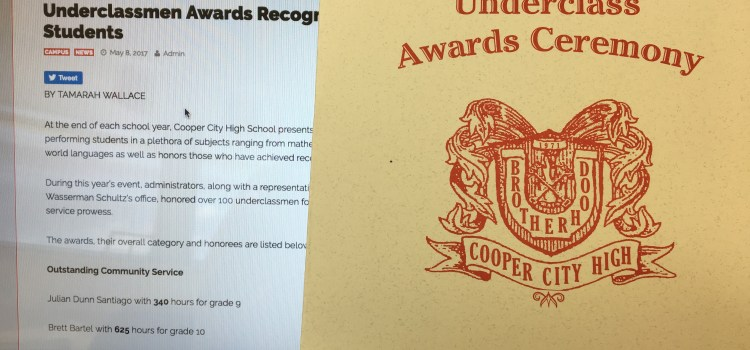 Underclassmen Awards Recognizes Over 100 Students