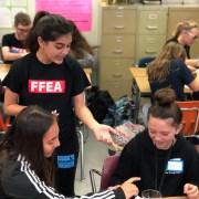 Members of CCHS FFEA and Pioneer Middle School's FFEA meet for leadership exchange