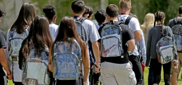 Clear backpacks are not the answer