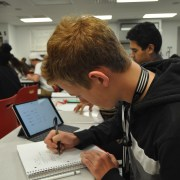 Testing the limits: Freshman Max Novak pursues an accelerated math program