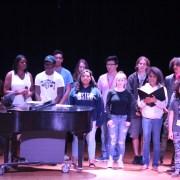 Peace, love and unity: CCHS students perform a peace ceremony for the school