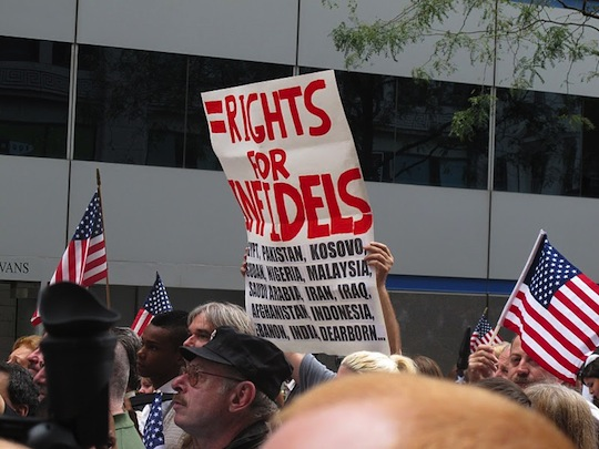 Anti-Muslim protesters at 9-11 rally
