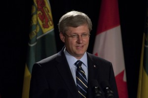 Prime Minister Stephen Harper. Photo courtesy of University of Saskatchewan, Flickr