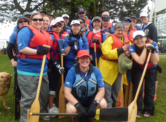 Vision Impossible Team is a dragon boating group of all paddling levels. Photo courtesy of Amy Amantea, Vision Impossible Team