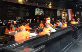 Dutch Vancouverites watching the European soccer championships at the Manchester pub, June 2012. - Photo by Erna van Balen