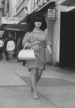 1968 girl with big hair, by Foncie | Photo courtesy of the Museum of Vancouver