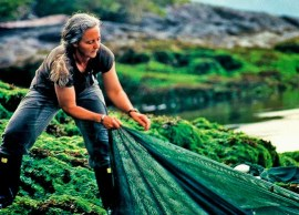 Dr. Alexandra Morton exposes the dangers of BC salmon farming in Salmon Confidential. |  Photo courtesy of VIFF
