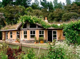Passive solar design with turf roof. | Photo courtesy of Emily Wren Jubenvill