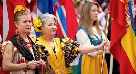 European heritage in colourful display.   Photo courtesy of European Festival
