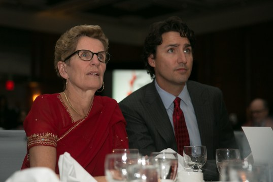 Ontario Liberal leader Kathleen Wynne with federal Liberal leader Justin Trudeau. | Photo courtesy of Premier of Ontario Phography