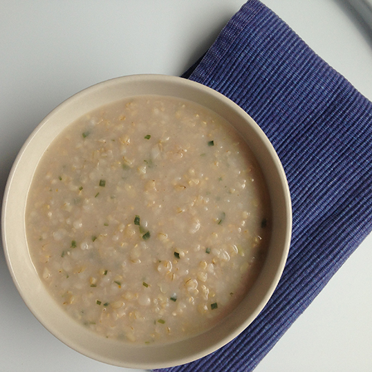 Congee – nourishing and therapeutic.