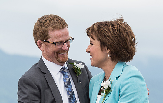Premier Christy Clark with Health Minister Terry Lake. | Photo courtesy of B.C. Government