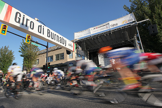 Various riders off the starting line at Giro di Burnaby 2014 | Photo by Chris Relke