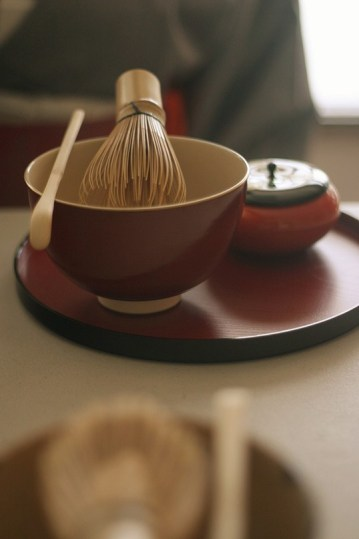 Tea bowl and utensils.| Photo courtesy of Maiko Behr