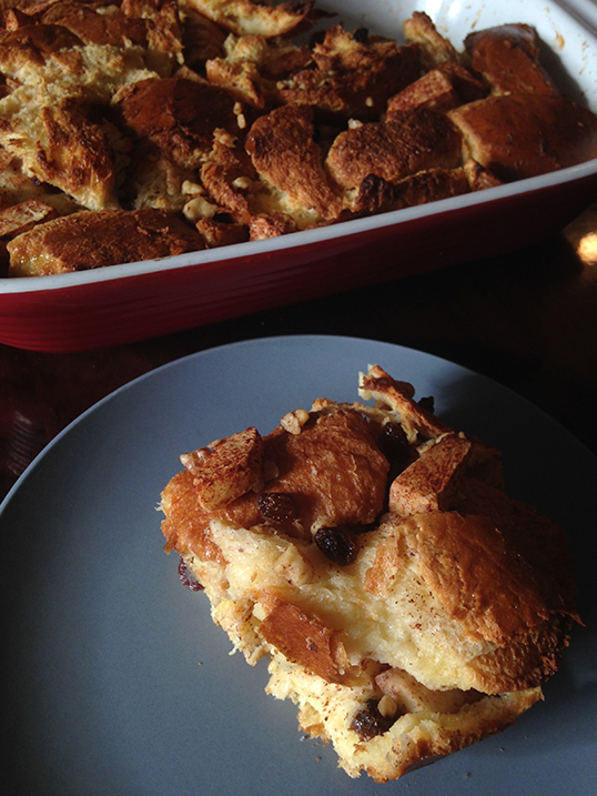 A bread pudding sweet enough to lift the soul.