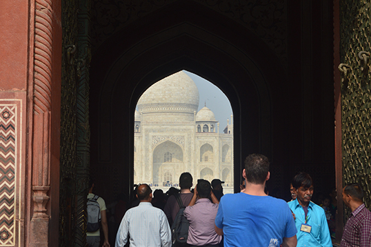 The Taj Mahal seen through the Southern Gate.  | Photo by Carl Densem