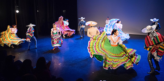 Nahualli Folklore Society performs at their annual fundraiser at the Scotiabank Dance Center in November | Photo by Diyah Pera