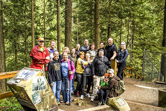 Members of the Lithuanian Community of B.C. on a recent hike to Rice Lake in North Vancouver. The group organizes outings and treks across Metro Vancouver for all demographics.
