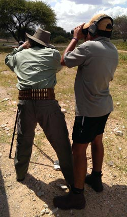 Our Classic safari cartridge belt in use in Africa.