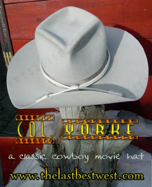 4ccc1459296 Col. Yorke Old West Cavalry Hat - The Last Best West