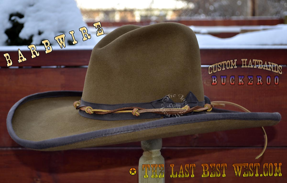 Barbwire Custom Hatband - The Last Best West