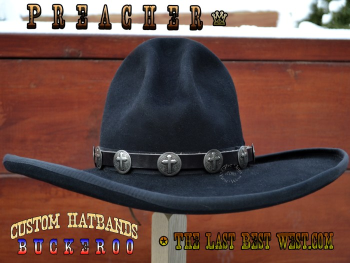 Preacher hand made hat band