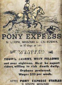 Pony Express Recruitment Poster