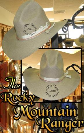 Rocky Mountain Ranger Cowboy Hat beaver fur felt custom handmade