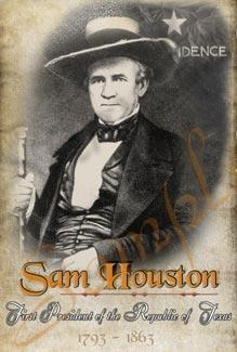 Sam Houston Poster